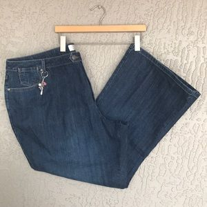 CJ Banks, denim, stretch, bootcut jeans. NWT